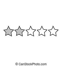 kreska, gwiazdy