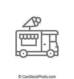 kreska, icon., śmietanka, wózek, ulica, mocne jadło, lód