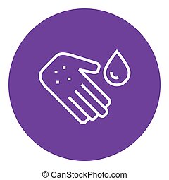 kreska, icon., mikroby, ręka