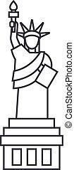 kreska, wektor, tło, swoboda, ikona, znak, statua, editable, ilustracja, uderzenia