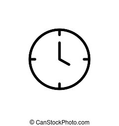 kreska, zegar, cienki, ikona