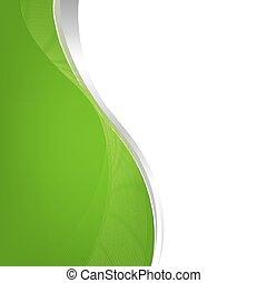 kreska, zielone tło