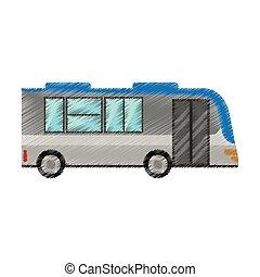 Doprava Autobus Kresleni Clona Karikatura Obecenstvo