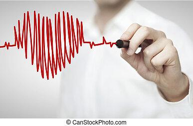Tep Srdce Kresleni Graf Graf Silny Tep Srdce Odhodlanost