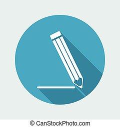 kreslit, moderní, vektor, ikona