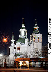 Krestovozdvizhensky temple in Tyumen. Russia