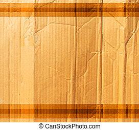 kreukelig, karton, textuur