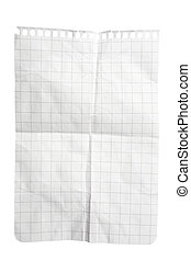 kreukelig, squared, notepad, blad