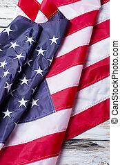kreukelig, vlag, america.