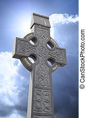 kreuz, stein, kopf, keltisch