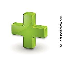 kreuz, symbol, plus, medizin, oder
