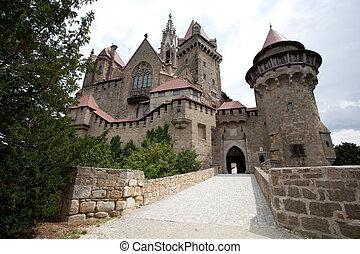 Kreuzenstein Castle, locally known as Burg Kreuzenstein,...