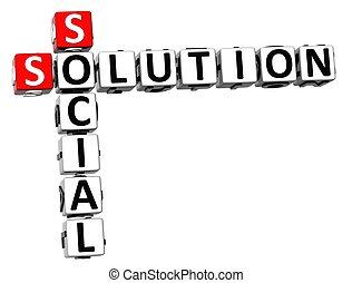 kreuzworträtsel, 3d, loesung, sozial