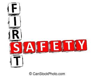 kreuzworträtsel, sicherheit zuerst