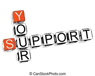 Unterstützung Kreuzworträtsel