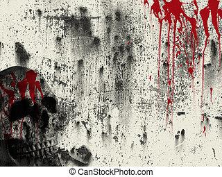 krew, tło
