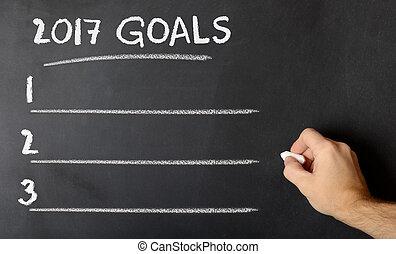 kridt planke, hos, 2017, mål