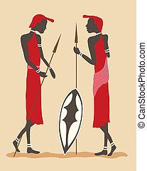 krieger, masai