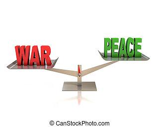 krig, eller, fred