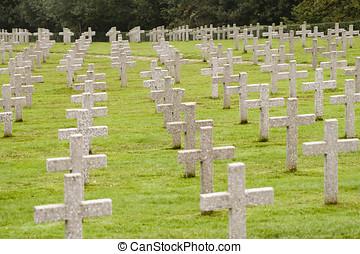 krig, gravar, in, frankrike