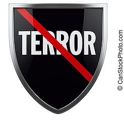 krig, på, skräck, anti, terrorism, symbol