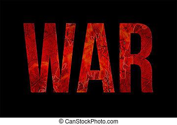 krig, typografi, grunge, stil, design