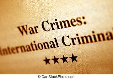kriga brott