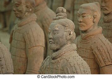 krigare, terrakotta