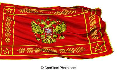 krigsmakt, av, rysk federation, obverse, flagga, isolerat,...