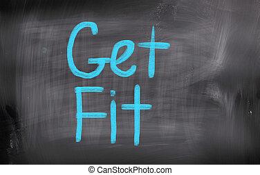 krijgen fit, concept