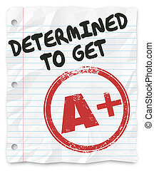 krijgen, rang, taak, partituur, plus, vastberaden, huiswerk