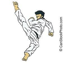 krijgshaftig, taekwondo., kunst