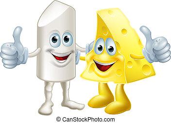 krijt, en kaas, vrienden