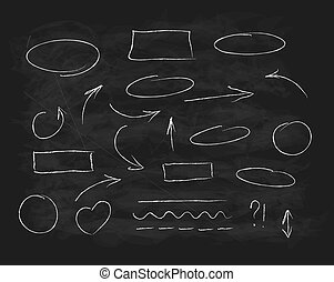 krijt, krabbelen, hand-drawn, communie, ontwerp