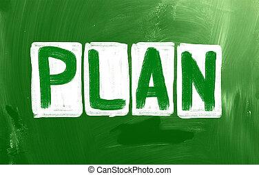 """krijt, """"plan"""", chalkboard, met de hand geschreven"""