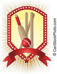krikett, csillag, fehér