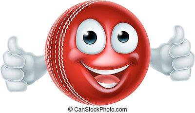 krikett, karikatúra, betű, labda