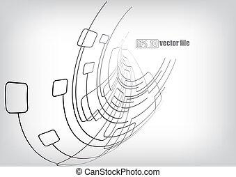 kringen, lijnen, achtergrond, vector