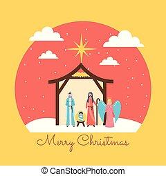 krippe, dreikönigsfest, weihnachten