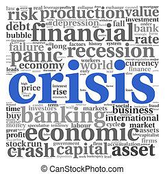 krise, begriff, weiß
