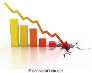 krise, geschäftskonzept, finanziell