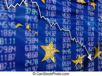 krise, in, europa