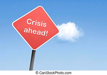 krise, voraus