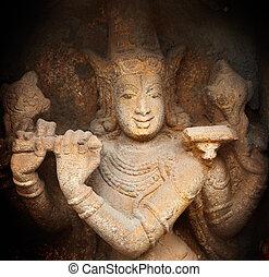 krishna, bas, nadu, hindu, sri, indien, tiruchirappalli,...