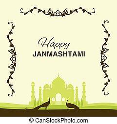 Krishna Janmashtami background