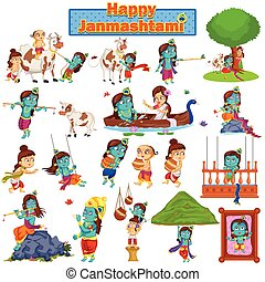 Krishna Janmashtami background - Krishna on Janmashtami...
