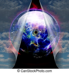 kristály labda