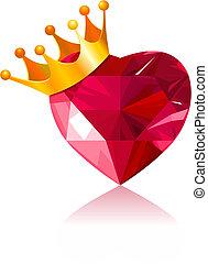 kristály, szív