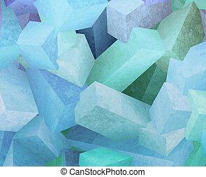kristal, blokje
