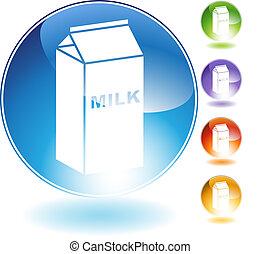 kristal, melk, pictogram